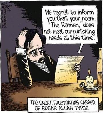 "Edgar Allan Typoe and ""The Ramen"""