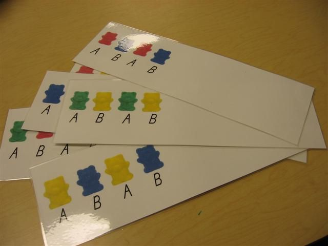 Patterns using bear counters