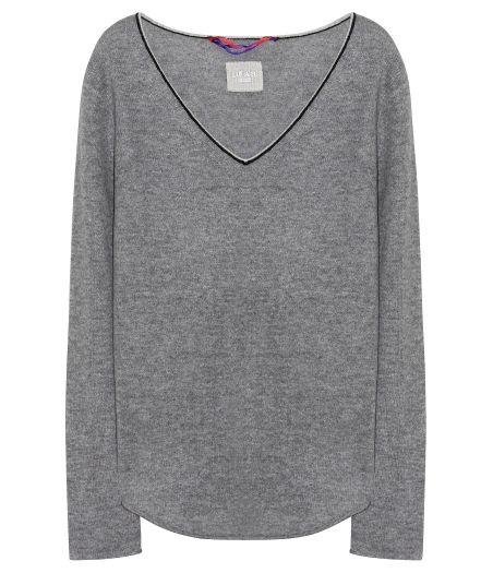 Dear Cashmere Pullover V-Ausschnitt Grau