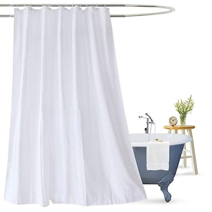 Aoohome Extra Long Shower Curtain Liner Mildew Resistant Fabric