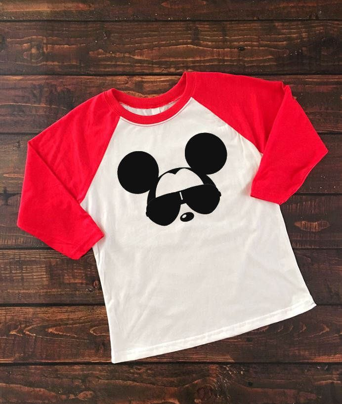 Mickey Shades Raglan Shirt, Disney Boys Shirt, Family Vacation Disney, Kids Disney Shirt, Mickey Family Vacation,Mickey Sunglasses Shirt by HandmadeSmilesDesign on Etsy