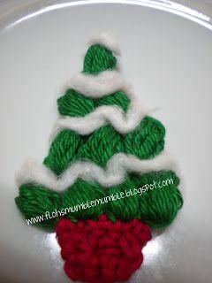 Stefifloh's Mumble mumble... ( blog principale): Piccolo addobbo natalizio con tutorial!!( Crochet Christmas tree!)