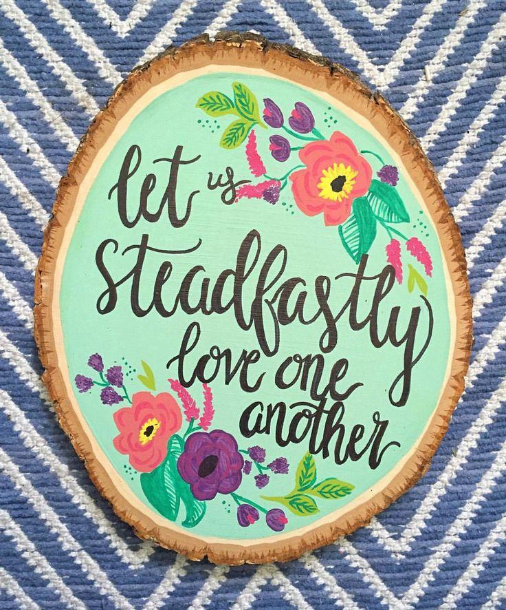 "Rachel Mason on Instagram: ""Wood Slice: Steadfast Love #woodslice…"