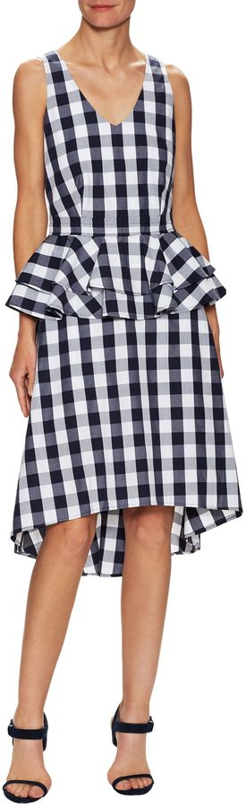 Elorie Women's Gingham Peplum Midi Dress