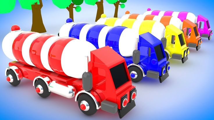 Learn Colors with Dump Truck Toy 3D Color Balls for Children Learning Ve...