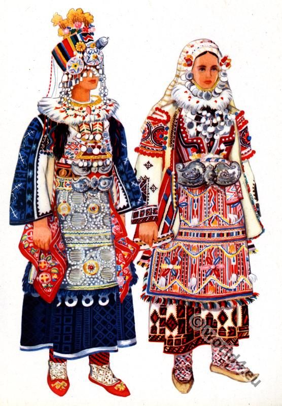 Macedonian national costumes from Skopska crna gora – Blatija.