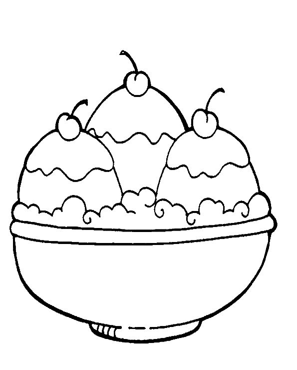 Three Roll Ice Cream Coloring Pages