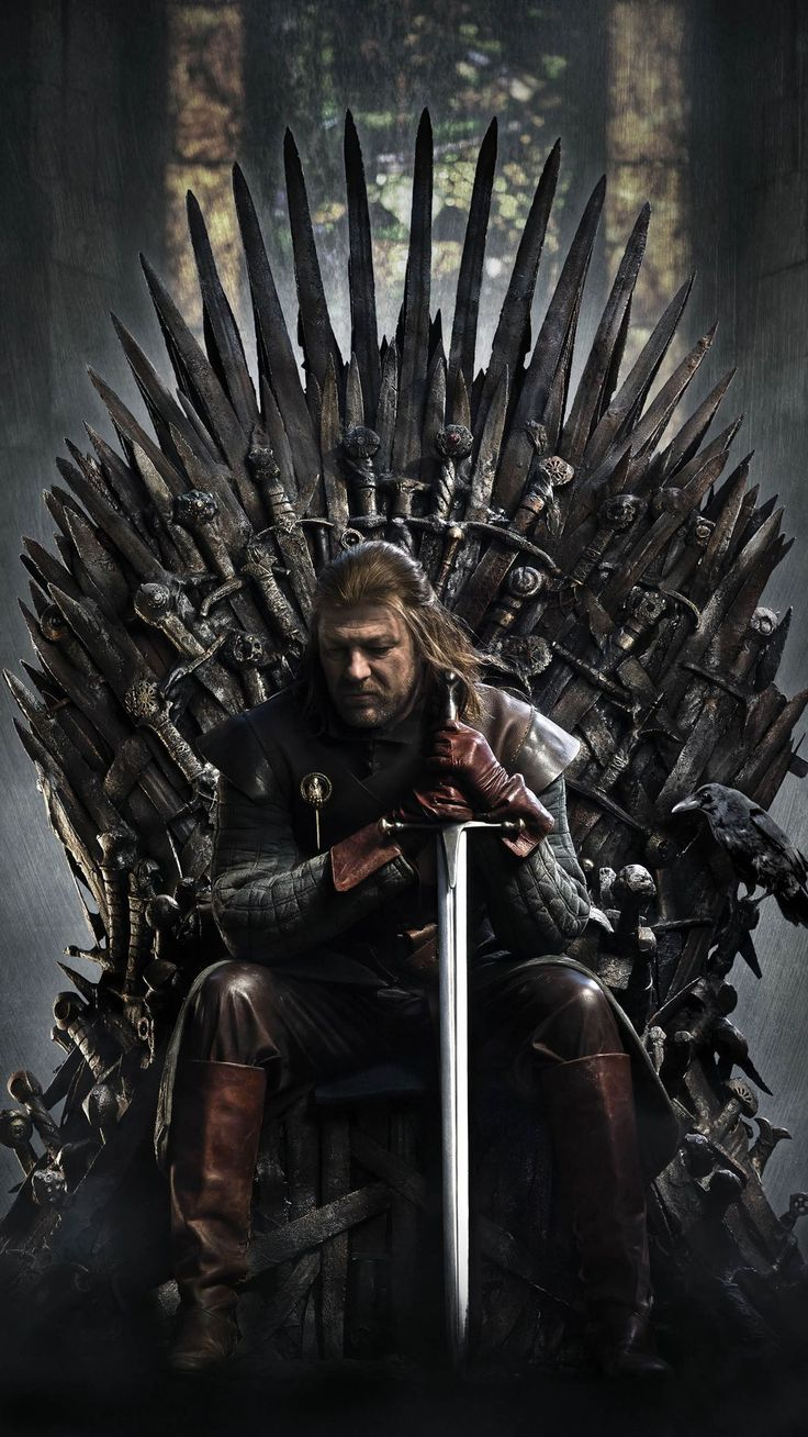 Game Of Thrones Ned Stark Iron Throne Android Wallpaper                                                                                                                                                                                 Mais