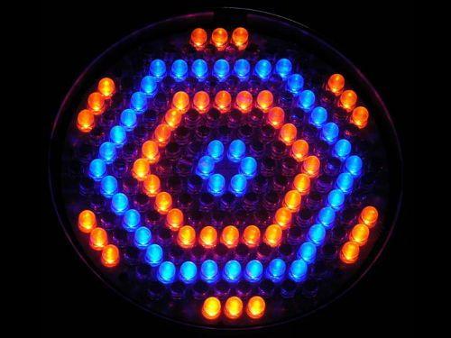 Efeito de iluminação: Canhão PAR64 186 LEDs 10mm RGBW DMX Áudio-Rítmico Slim MD