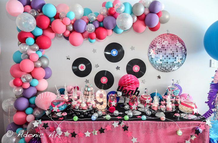 Rock star theme dessert table