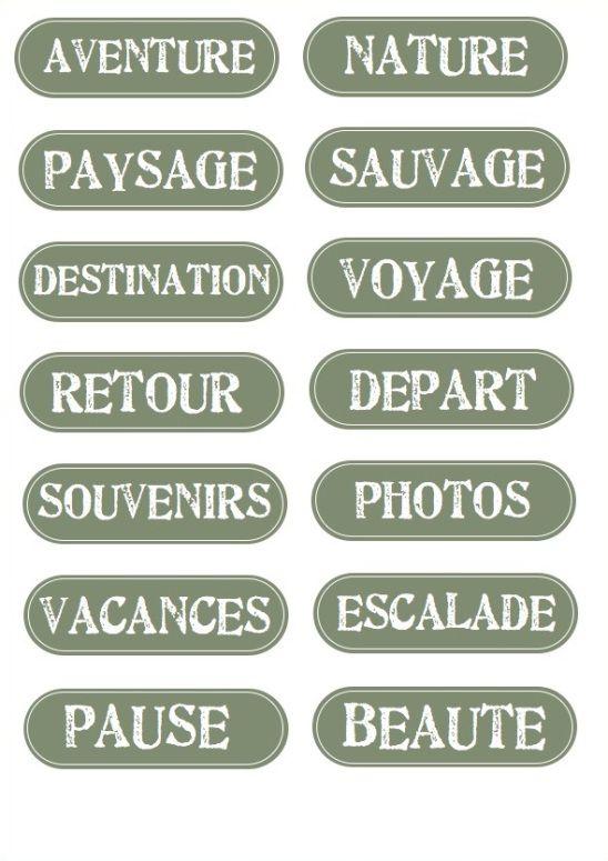 étiquettes voyage vertes