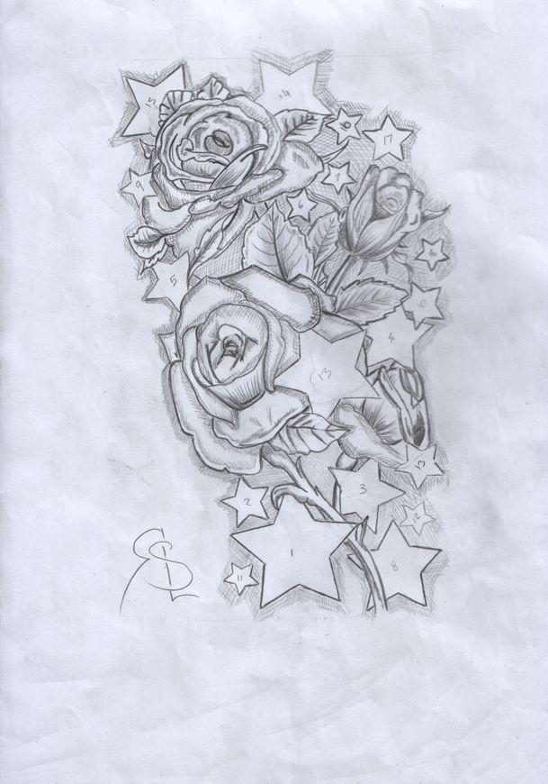 Sketch Style Tattoo Sleeve: Skull Sleeve Tattoo Designs