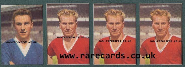 "Soireé, 1958 series issued in Mauritius. These rare cards are from the time of Heinerle 's first fussball cards in West Germany; from the time of Colinville 's mini ""footer fotos"" of soccer stars, in GB; and from the same year A&BC Gum launched its first footballer gum cards, in England, in 1958. The Soireé series boasts probably the most beautiful rookie cards of all rookies of Jimmy Greaves and of Bobby Charlton, to mention just two of this rare series.  Picture: 3 of the 4 (or 5) known…"