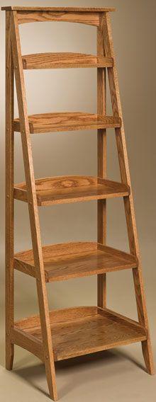 Amish Outlet Store : Ladder Shelf in Oak