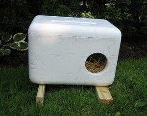 DIY outdoor cat houses - a few cheap & easy ideas - for my little Rupert!!! ;)