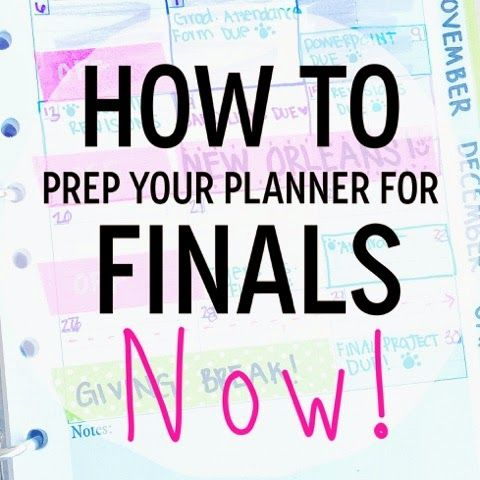 How To Prep Your Planner for Finals (NOW)!