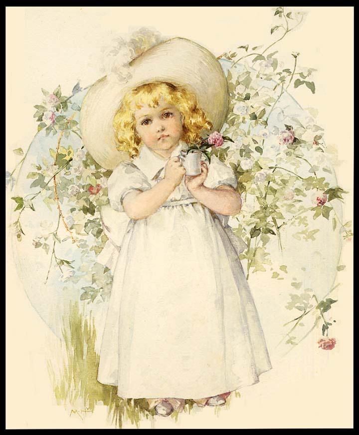 Винтажная открытка к 8 марта с детьми