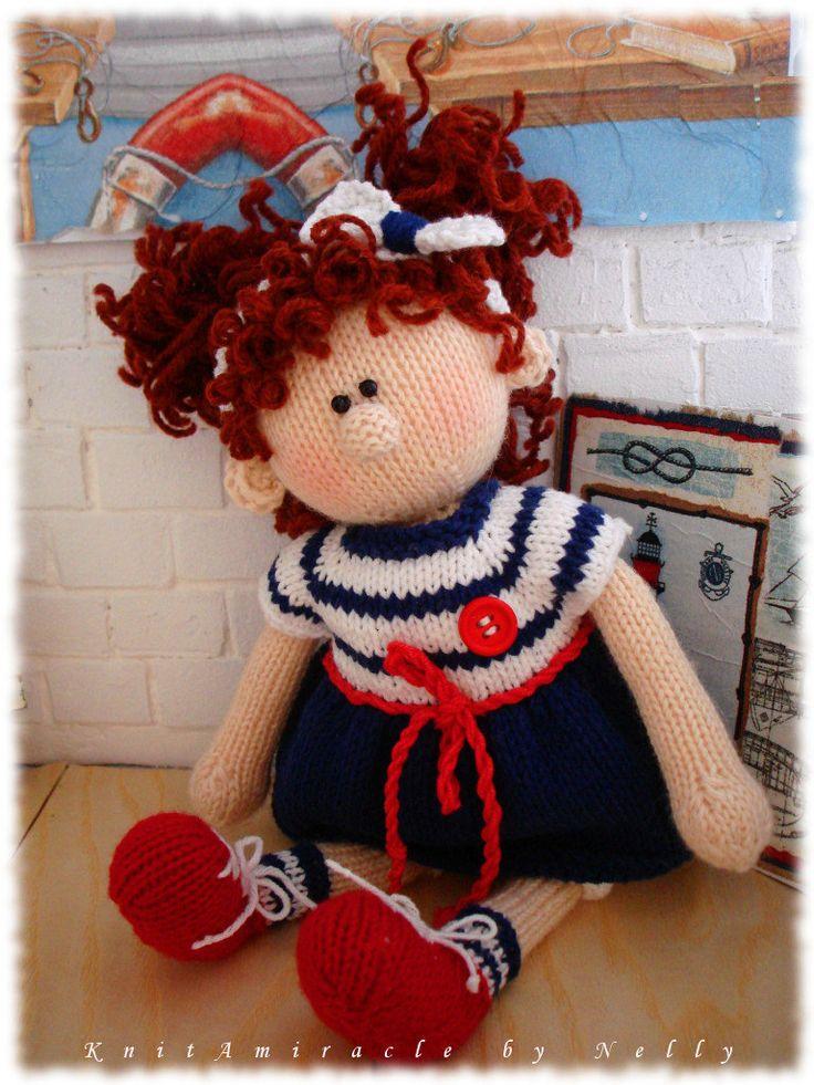 Toy Knitting Pattern Alice Emil's Girlfriend por KnitAmiracle