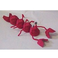 Kids crafts egg carton lobster