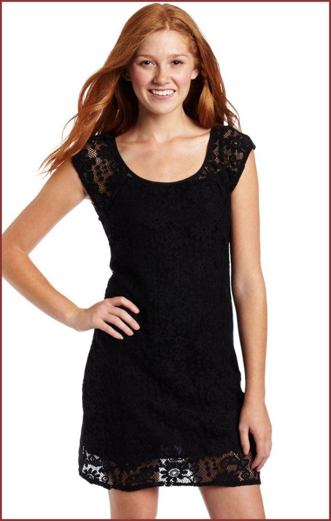 scrumptious Hot Black Dress for Juniors