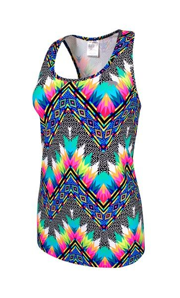Tribal Navajo- Plus Size - High Line Workout Tank - Running Bare Australia PTY LTD