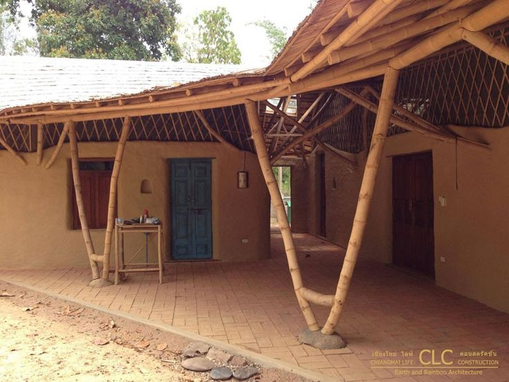 Private Residence Adobe Bricks Bamboo Roof