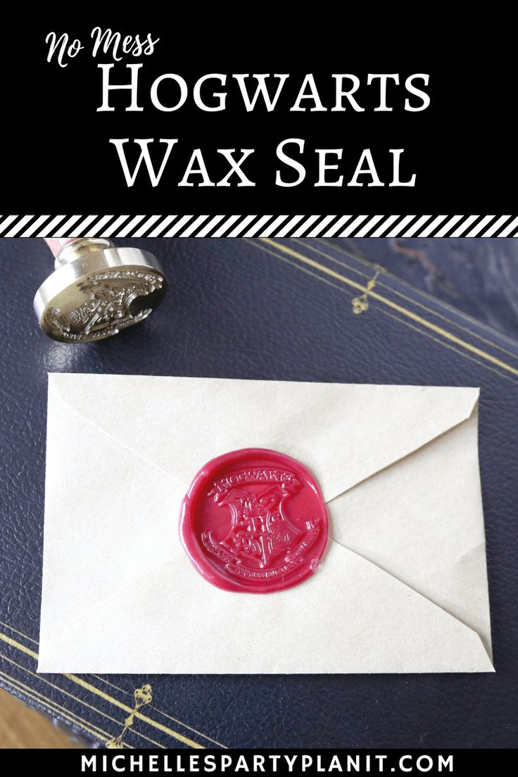 Make your own Hogwarts Stationery with this no mess wax and seal! Perfect for Harry Potter Party Invitations and more!