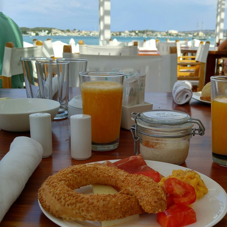 Breakfast with a view at Nikki Beach Porto Heli