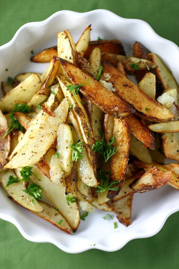 White Truffle Oil and Parmesan Oven Fries