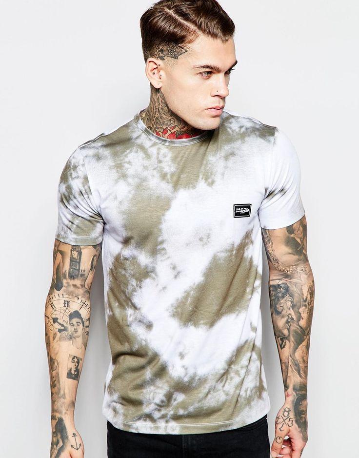 Imagen 1 de Camiseta con estampado lavado de luna por toda la prenda de Jaded London
