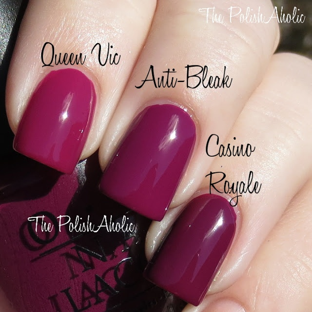 Anti Nail Biting Polish: BL Queen Vic Vs OPI Anti-Bleak Vs OPI Casino Royale