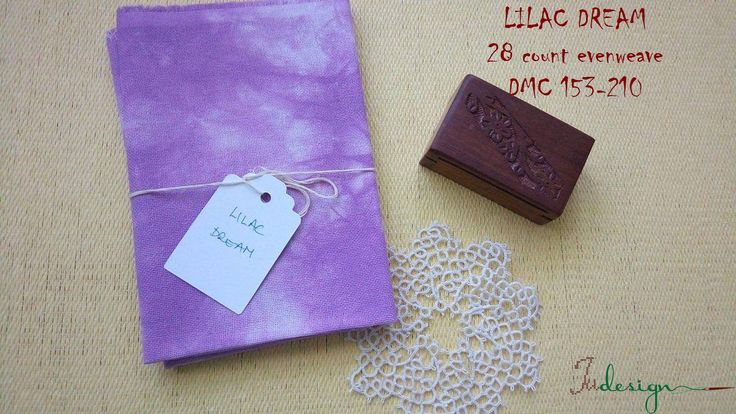 28 count LILAC DREAM hand dyed evenweave for cross stitch, hardanger, blackwork, embroidery works 19x14 inch by xJudesign on Etsy