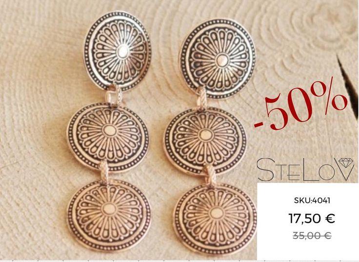 Weekend sale!!! #stelov #slv #earrings #silver #jewelry #weekendsales #shoponline #worldwideshipping