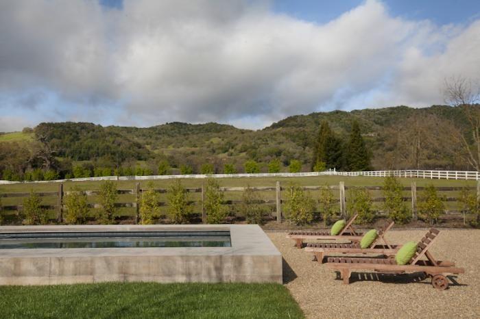 modern Sonoma farmhouse - swimming pool
