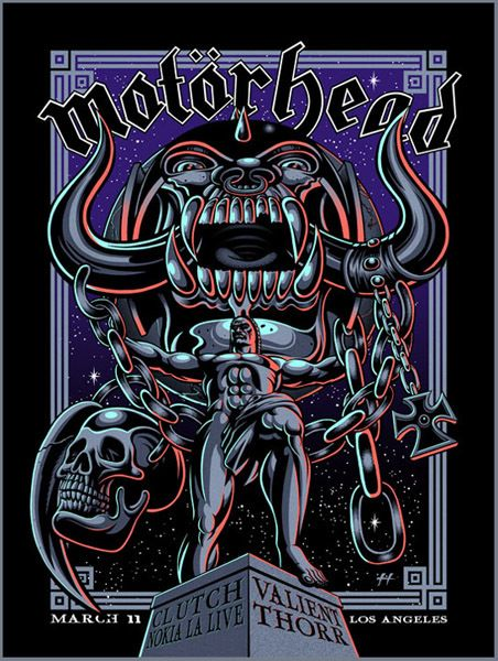 GigPosters.com - Motorhead - Clutch - Valient Thorr