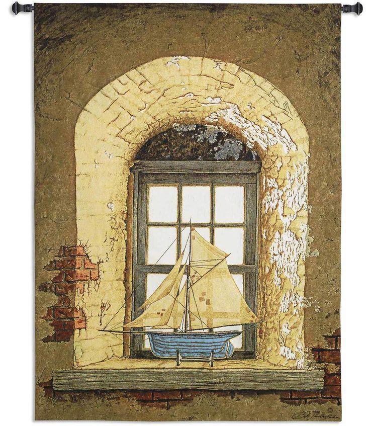 Lighthouse Window by Bob Timberlake   53 x 38   Woven Tapestry