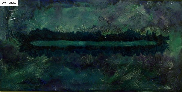 Artist... Don Henderson. Title... Blue Cut. Acrylic on canvas, 2008, 100cm x 50cm.This painting is a continuation of an investigation into a contemporary account of the ancient crafts of japanning/ laquering.