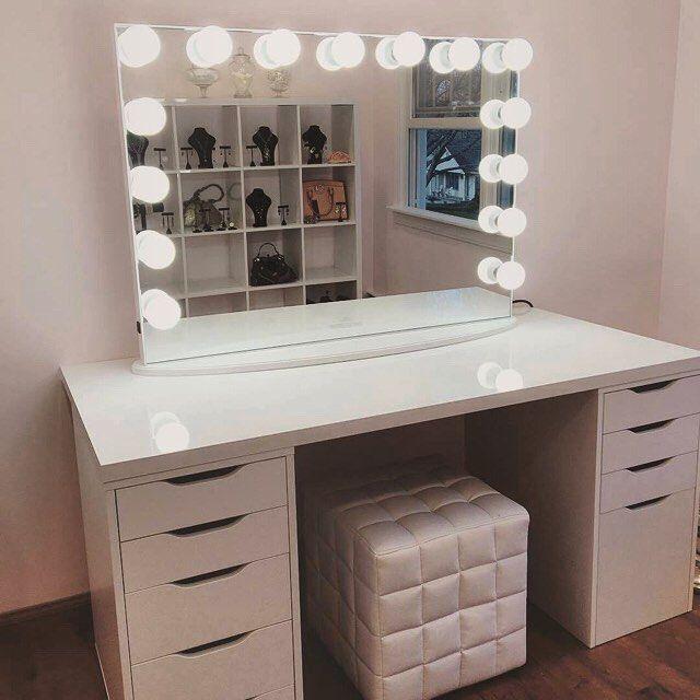 25 best vanity tables ideas on pinterest makeup vanity tables mirrored vanity desk and. Black Bedroom Furniture Sets. Home Design Ideas