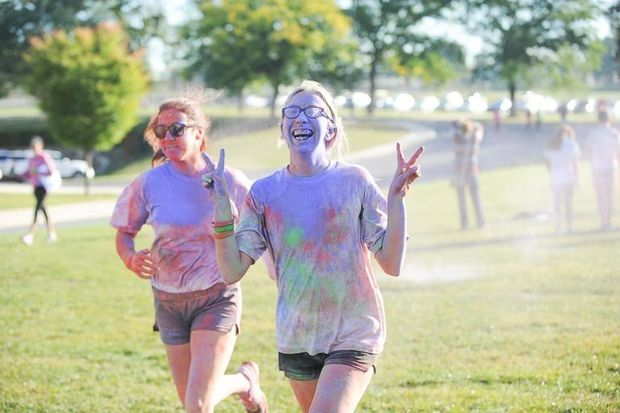 Students from Bethlehem Area School District organized a Color Run on their school campus to benefit their 2015 Mini-THON #FTK