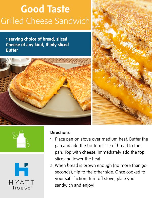 A simple meal you can eat on the go, yet prepare in a @hyatthouse fully-fitted kitchen? This Grilled Cheese Sandwich recipe is the perfect fix.