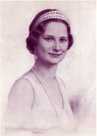 Astrid, Reine des Belges 1905-1935 Née princesse de Suède, mariée en 1926 à Léopold, duc de Brabant, devenu Roi des Belges en 1934 sous le nom de Léopold III (1901-1983)