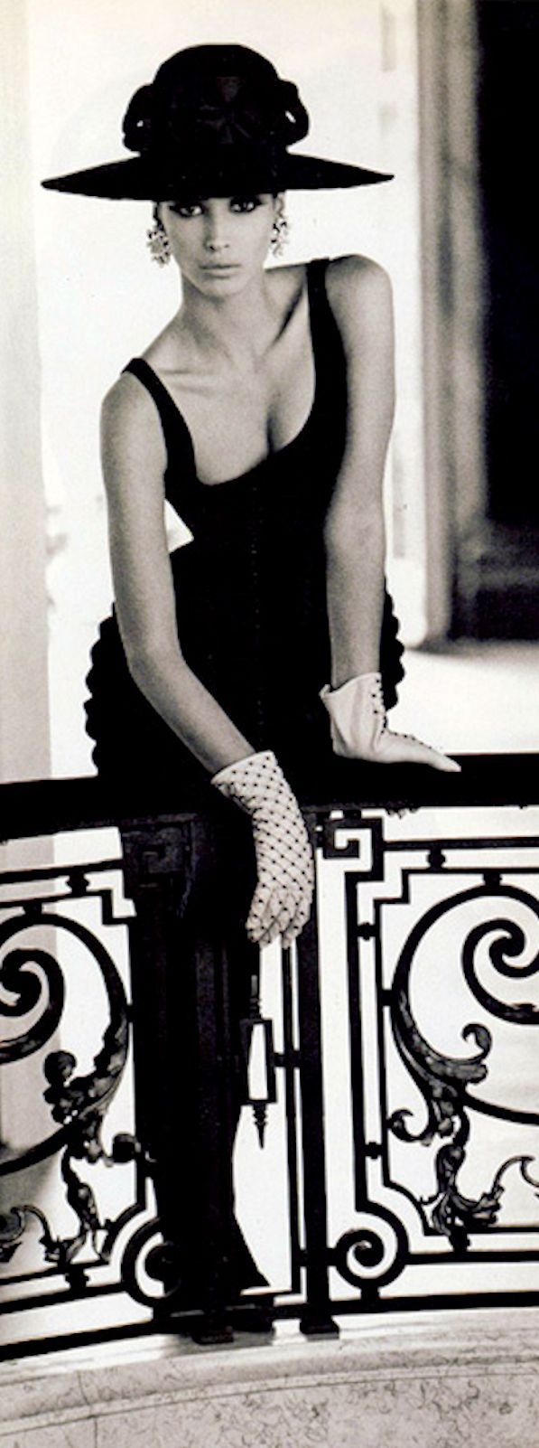 Christy Turlington, in Valentino, September 1991, Vogue Italia, Photo by Steven Meisel