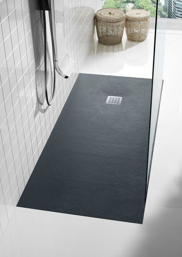 Anti-slip rectangular #shower tray TERRAN by ROCA #bathroom #minimal