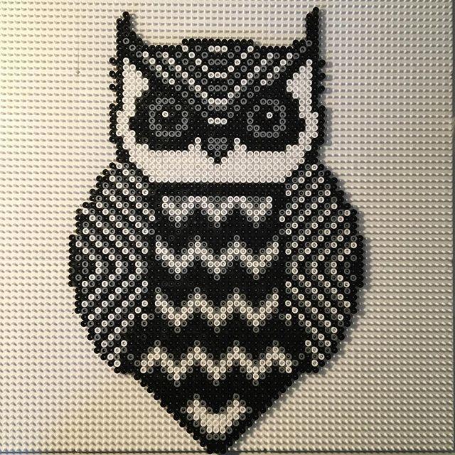 Owl hama beads by miesjoergensen