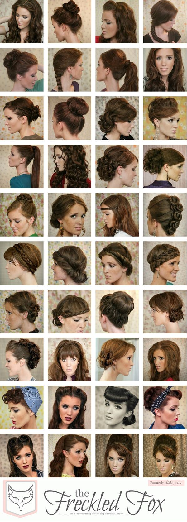 this is an awesome hair inspiration board for school days I don't feel like straightening my hair!!!