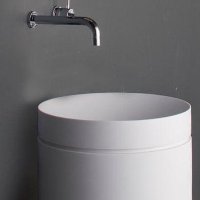 Omvivo | White Mono Pedestal with Basin | Wash Basins | Share Design | Home, Interior Design, Architecture, Design Ideas & Design Inspiration Blog