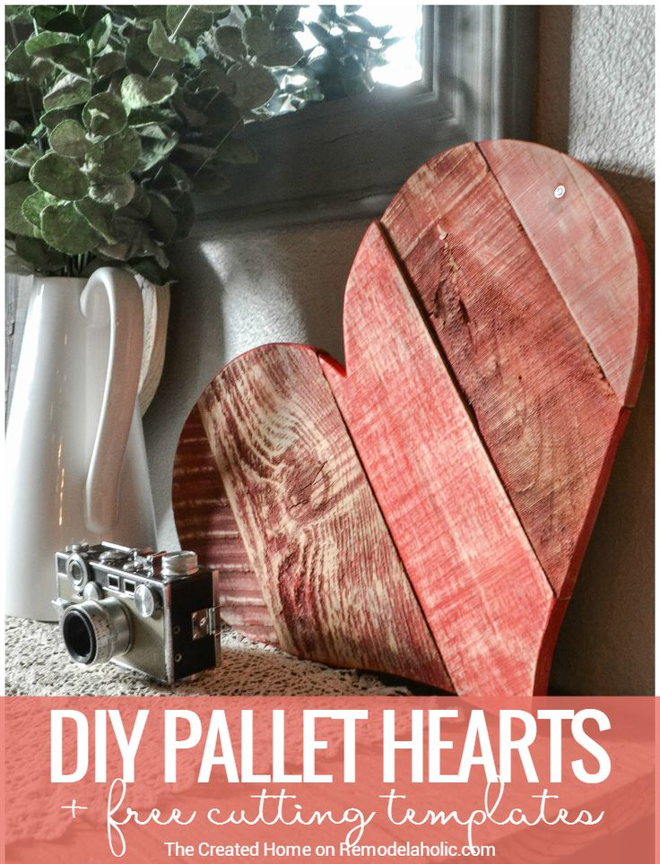 These DIY rustic pallet wood hearts are the perfect scrap project to use up those odd and ends of leftover wood. Paint it, whitewash it, or leave it natural.