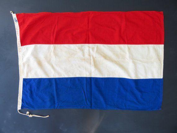 Vintage Dutch Flag Netherlands Flag Of Holland Europe World Etsy In 2020 Dutch Flag Netherlands Flag Flag