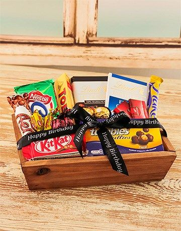 Buy Small Wooden Crate with Chocolates Online - NetGifts
