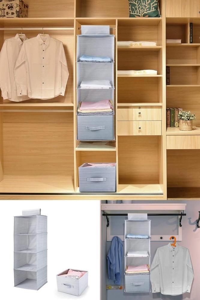 Wardrobe Storage Hanging Closet Organiser Storage Shelves Drawer